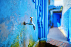 Beautiful blue medina of Chefchaouen, Morocco Stock Images