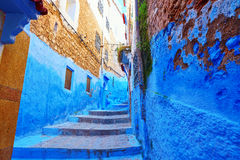 Beautiful blue medina of Chefchaouen, Morocco Stock Photography