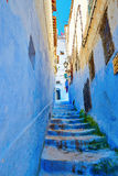 Beautiful blue medina of Chefchaouen, Morocco Royalty Free Stock Image