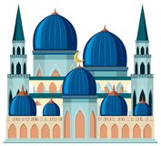 A beautiful blue mosque stock illustration