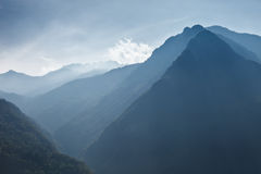 Beautiful blue mountains of Austria. In the evening Royalty Free Stock Image