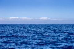 Beautiful blue Ocean and Sky Background Stock Photography