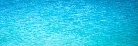Bright Blue Ocean Water royalty free stock photo