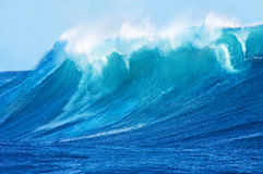 Beautiful Blue Ocean Wave Royalty Free Stock Photo
