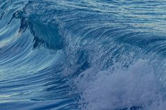 Beautiful Blue Ocean Wave in Costa Brava coastal in Spain Stock Photography