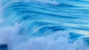 Beautiful Blue Ocean Wave in Costa Brava coastal in Spain Royalty Free Stock Photos