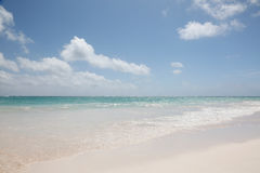 Beautiful blue ocean and white sand background Royalty Free Stock Image