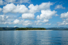 Beautiful blue ocean and white sand beach. Royalty Free Stock Images