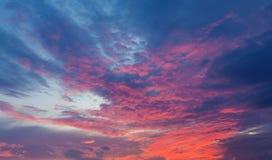 Beautiful blue and orange Sunset Sky Royalty Free Stock Images