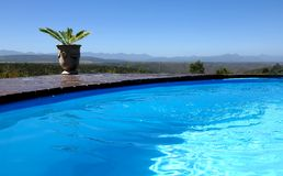 Beautiful Blue Outdoor Pool Royalty Free Stock Photography