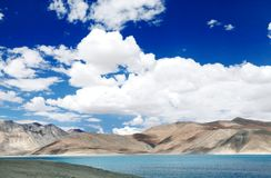 Beautiful blue Pangong lake Stock Photography