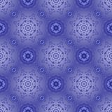 Beautiful blue pattern on a blue. Seamless Royalty Free Stock Image