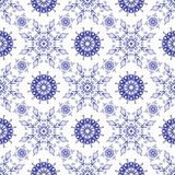Beautiful blue pattern on a white background Stock Photos