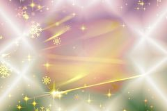 Colorful Christmas background with snowflakes and stars Stock Images