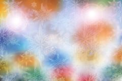 Colorful Christmas background with snowflakes and stars. Beautiful blue and pink Christmas background - snowflakes, stars,lights Royalty Free Stock Photo