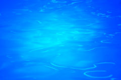 Beautiful blue pool water with reflected light Royalty Free Stock Photo