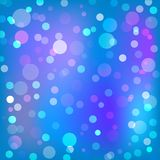Beautiful blue and purple bokeh background texture. Purple, blue and pink pastel colorful background bokeh blurred and morning lights Royalty Free Stock Photography