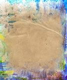 Beautiful blue, purple and white paint splatters. On classic brown paper- Great for textures and backgrounds for your projects Stock Photography