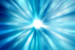 Beautiful blue rays of light Stock Image