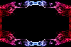 Beautiful blue-red abstract frame of a smoke Stock Photography
