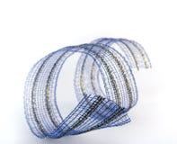 Beautiful blue ribbon. On white background stock illustration