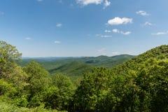 Beautiful Blue Ridge Parkway vista, North Carolina. Beautiful Blue Ridge Parkway vista in springtime, North Carolina stock images