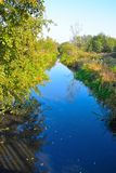 Beautiful blue river Stock Photography