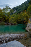 Beautiful blue river in Zagori Greece Europe. Stock Photo