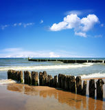 Beautiful blue sea Stock Images