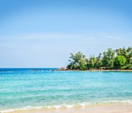 Beautiful blue sea background in Thailand Royalty Free Stock Image