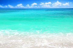 Beautiful blue sea beach Stock Image