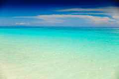 Beautiful blue sea from a beach in Thailand Royalty Free Stock Images