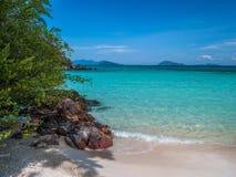 Beautiful blue sea beach at Trat Thailand. Impression island on holiday travel Stock Image
