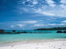 Beautiful blue sea beach at Trat Thailand. Impression island on holiday travel Stock Photo