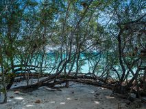 Beautiful blue sea beach at Trat Thailand. Impression island on holiday travel Stock Photography