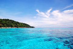 Beautiful blue sea ,blue sky from tachai island Stock Photography