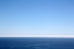 Beautiful blue sea horizon Royalty Free Stock Image