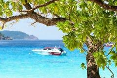 Beautiful blue sea at Koh Miang in Mu Koh Similan, Thailand Royalty Free Stock Photography