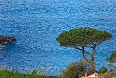 Beautiful blue sea in Vico Equense Napoli, Sorrento Coast, Italy. Panorama view - Beautiful blue sea in Vico Equense Napoli, Sorrento Coast, Italy, Europe Stock Photos