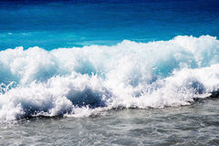 Beautiful Blue Sea Wave Royalty Free Stock Photo