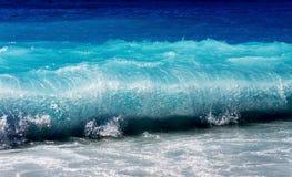 Beautiful Blue Sea Wave Stock Photo
