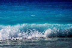 Beautiful Blue Sea Wave Royalty Free Stock Photography
