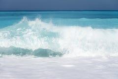 Beautiful Blue Sea Wave Royalty Free Stock Photos