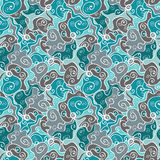 Beautiful blue seamless pattern Stock Images