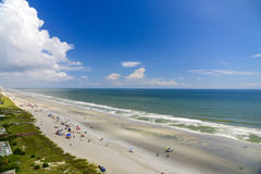 Beautiful Blue Skies from Beach Resort Balcony. Beautiful blue skies and ocean from beach resort balcony in Myrtle Beach, South Carolina Royalty Free Stock Images
