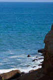 Beautiful blue skies and ocean around Salango Royalty Free Stock Image