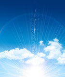 Beautiful blue sky Royalty Free Stock Photo