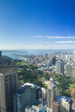 Beautiful blue sky above the city of Sydney Australia Royalty Free Stock Images