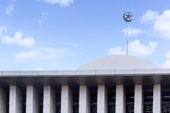 Beautiful blue sky above Istiqlal mosque Stock Images