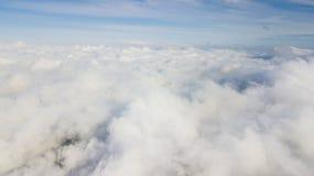 Beautiful blue sky above Kintamani volcano. At misty morning in Bali, Indonesia Stock Photos